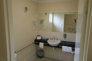 Bathroom at Caboolture Gateway Motel | Bathroom | Deluxe King With Spa