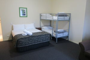 Beds   Queen Bed and Bunks   Family Room