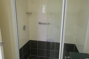 Twin Room Bathroom | Bathroom in the twin room - walk in shower | Deluxe Twin Room
